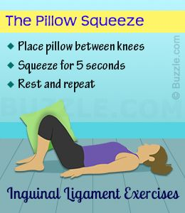 Inguinal ligament exercise - the pillow squeeze