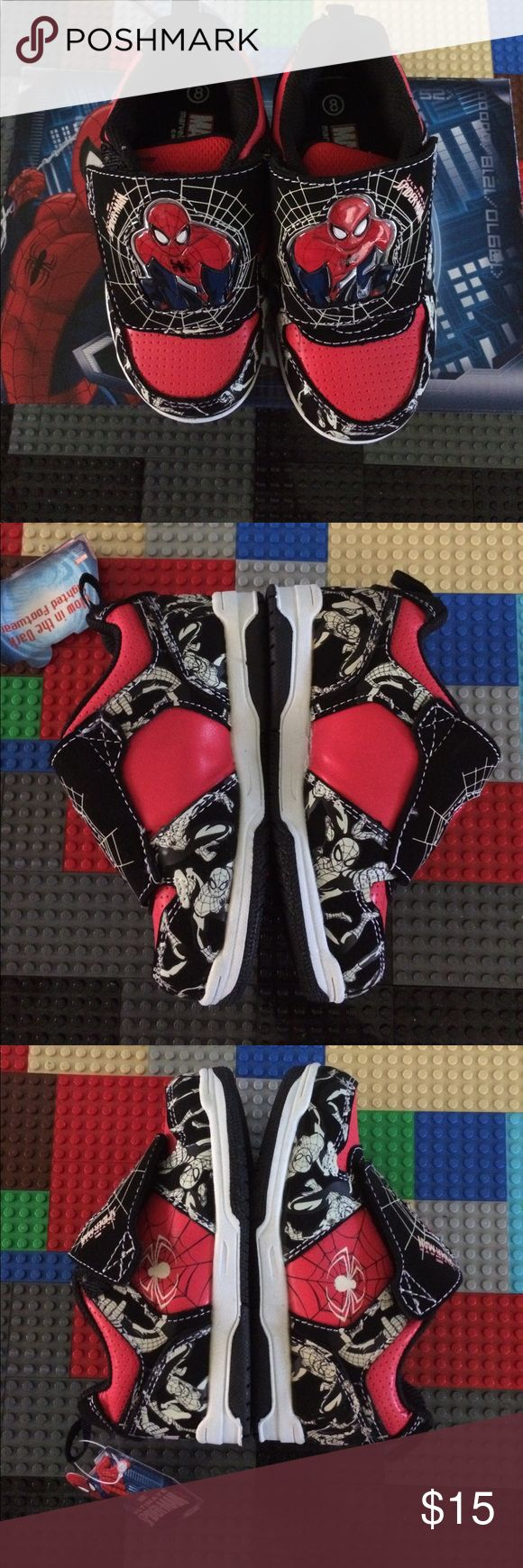 Marvel Ultimate Spider-Man Boys New Size 8 New never used in box Marvel Ultimate Spider-Man boys size 8 medium Have Velcro and lights up Marvel Shoes Sneakers
