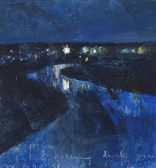 Moon landscapes  -  Kurt Jackson   British, b.1961-  Oil on canvas