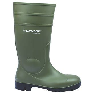 Dunlop Safety Footwear Protomastor 142VP Wellington Boots Green Size 9 | Safety Wellingtons | Screwfix.com