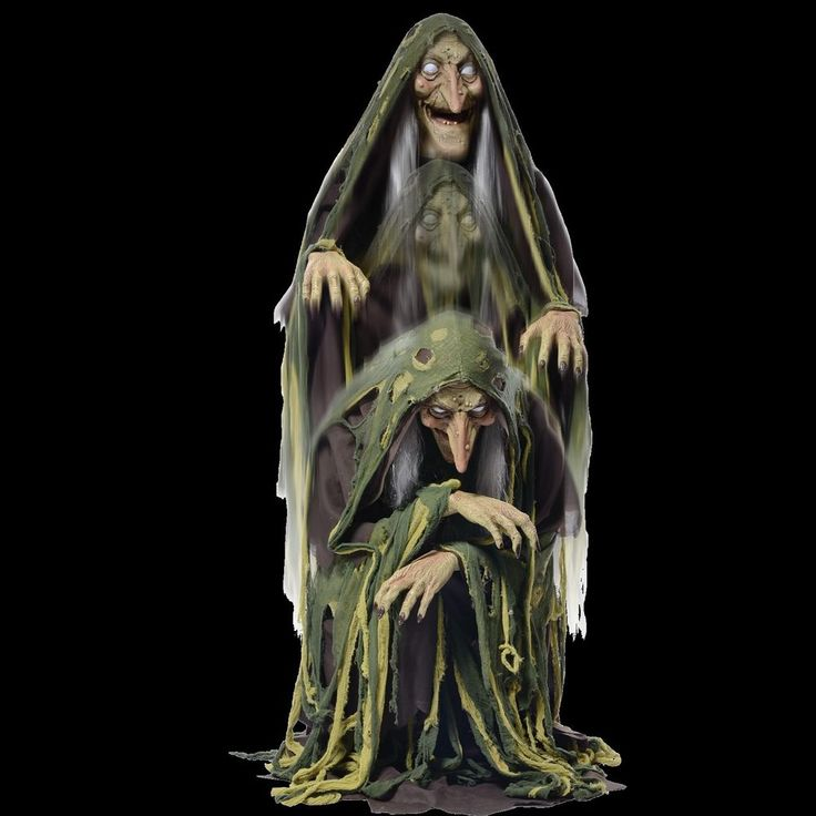 RISING SWAMP WITCH - Animated Halloween Prop & Decoration - Haunted House…