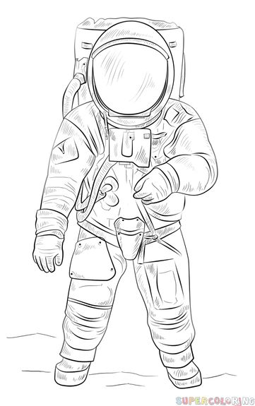 detailed drawings of astronauts - photo #36