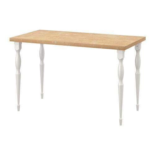 "LINNMON / NIPEN Table - birch effect/white - IKEA ... Measurements: : 47 1/4 ""W x 23 5/8 ""D, 29 1/8 ""H; {$83.99}"