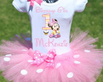 Minnie Mouse First Birthday Outfit, FAST SHIP, Minnie Mouse First Birthday Outfit, Birthday Tutu