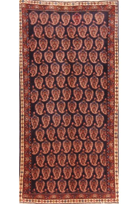 Saroogh Persian rug. Wool. Hand Knotted. 61 x 122 http://www.rugman.com/persian-saroogh-design-oriental-area-rug-small-size-wool-blue-rectangle-253-21099