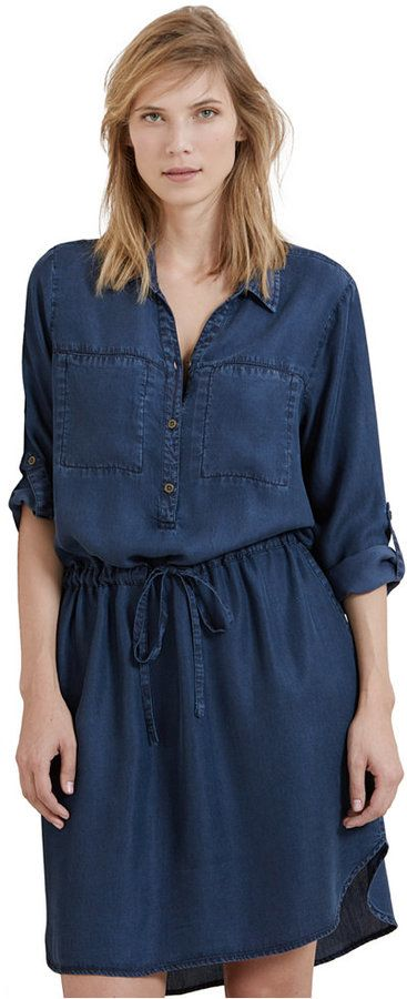 Violeta by Mango Plus Size Denim Shirtdress