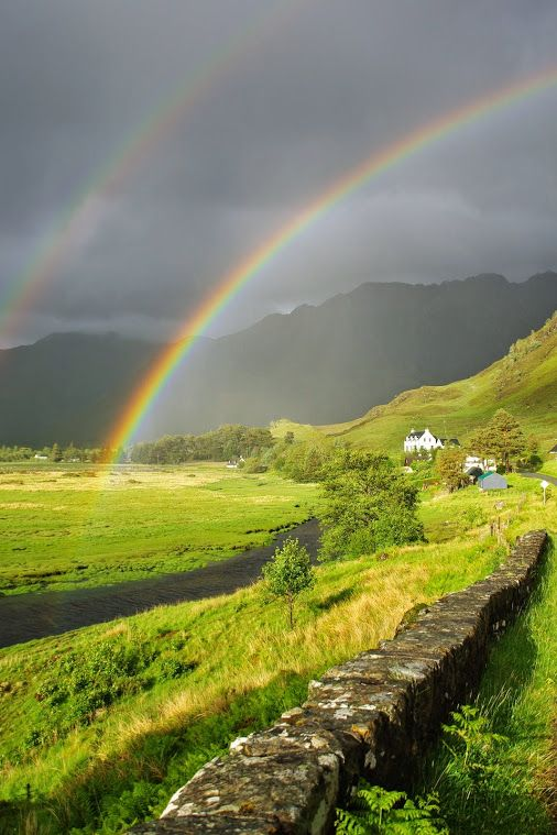 RAINBOW IN MORVICH, SCOTLAND  Credit: © Copyright Kirua and licensed for reuse under Creative Commons Licence