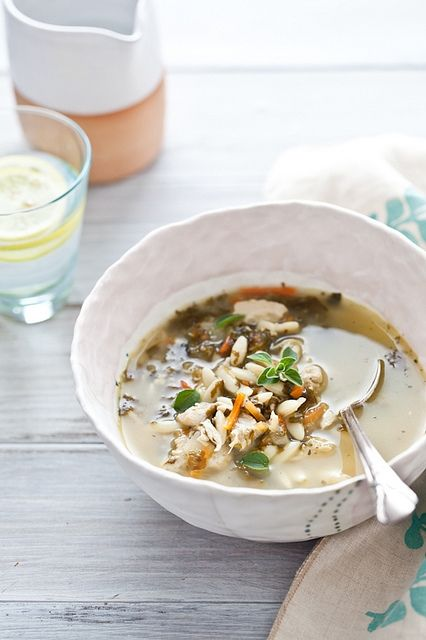Lemon, Chicken and Orzo Soup