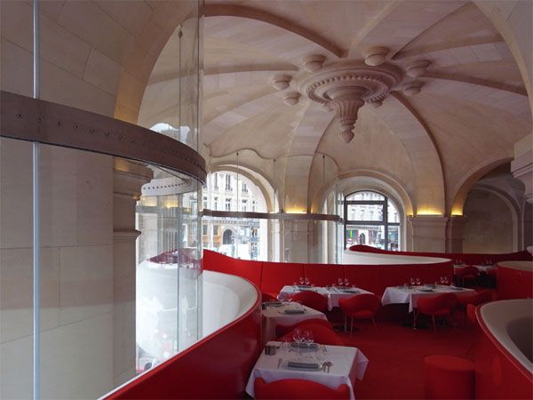 The Phantom Opera Garnier Restaurant in Paris, designed by French architect Odile Decq,