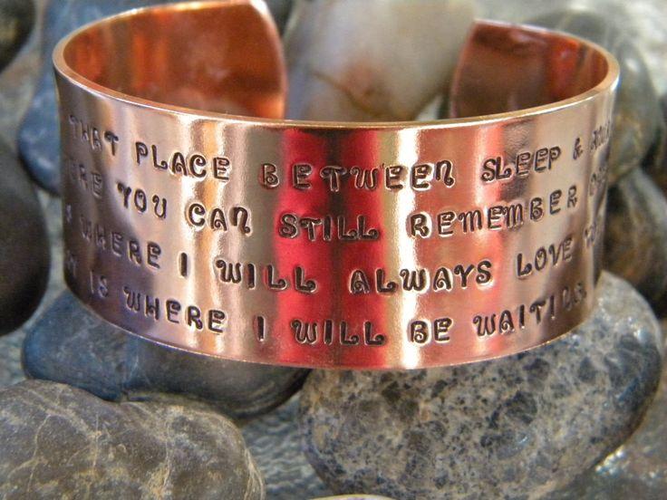 That place between sleep and awake - Peter Pan inspired bracelet