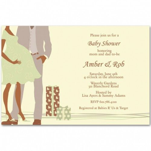 African American Baby Shower Invitations | Modern Printable Couples Baby  Shower Invitations Bs060