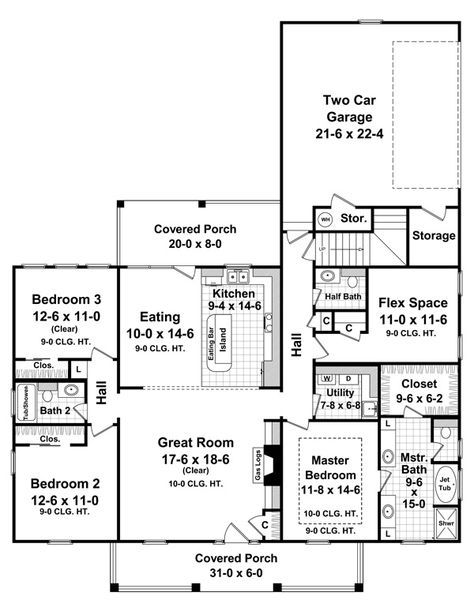 house plan hhf 7028 1 story 1888 total square footage