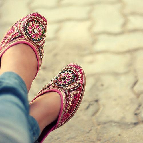 South Asian desi shoes.