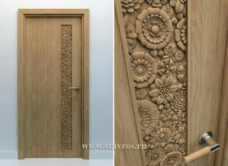 Door wooden solid internal wooden doors for New main door