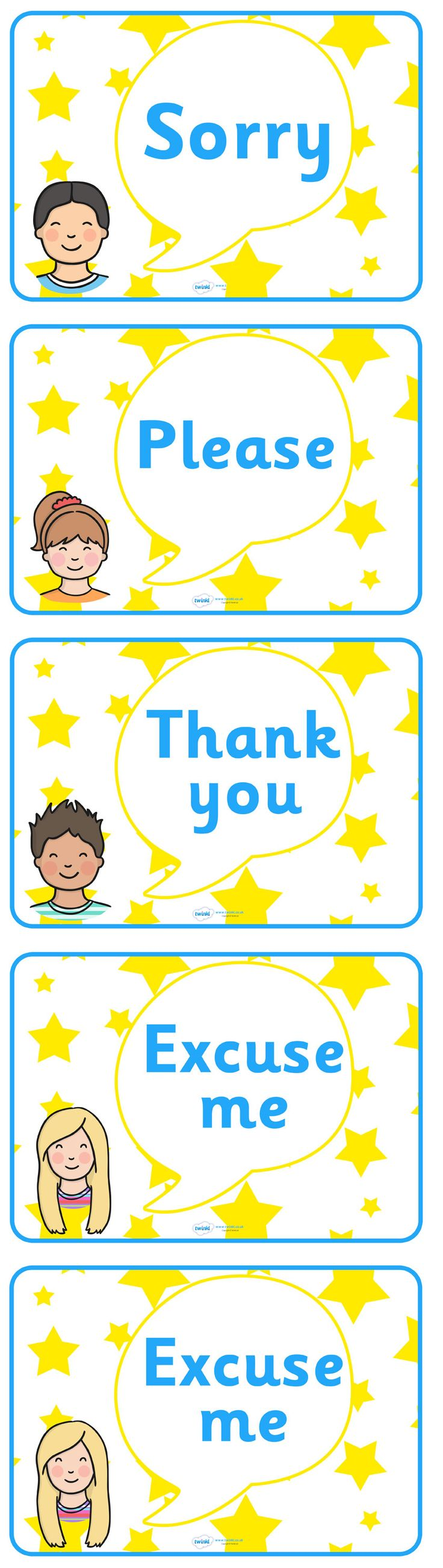 Twinkl Resources >> Good Manners Vocabulary Display Posters  >>…