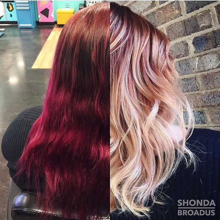 STYLIST SPOTLIGHT: this gorgeous before and after is like day and night | colored by @shondabroadus  #hair #hairinspiration #hairstylist #colorist #haircolor #cosmetologist #modernsalon #americansalon #behindthechair #thecutlife #curlbox #styleseat #style #beauty #model #instagood #inspo #instalove #pinkhair #redhair #ombre #pastelhair