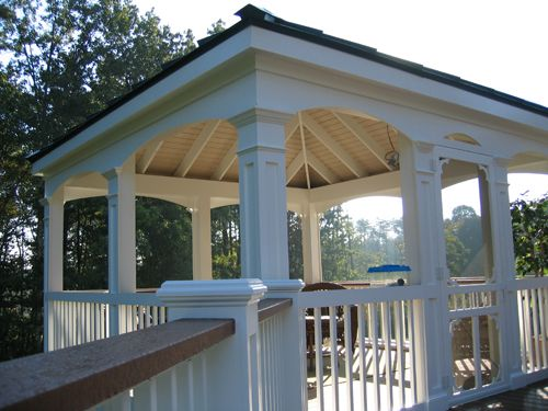 Deck gazebo gazebo hot tub ideas pinterest decks for Deck with gazebo