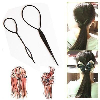 2 pcs En Plastique Magique Topsy Queue Clip Chapeaux Cheveux Outils Style De Mode Casual Salon Accessoire Torsion Tresse Queue de Cheval Fabricant