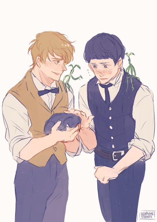 Newt and Credence - Fantastic Beasts