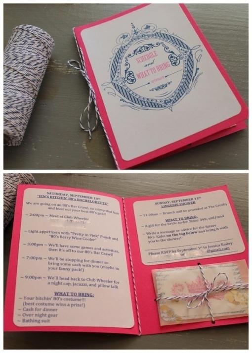 bridal shower agenda