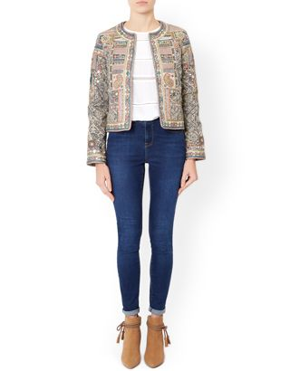 Lila Embellished Jacket | Multi | Monsoon