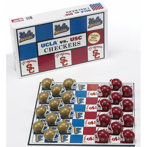checkers game images | College Rivals Checkers Game Set – UCLA versus USC: Colleges