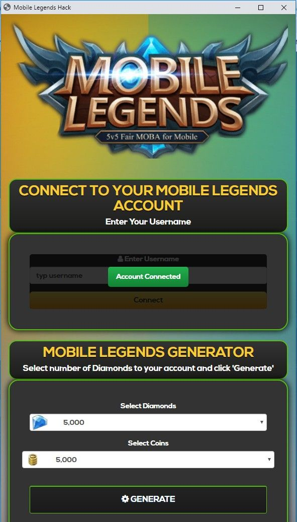 Pin On Mobile Legends Diamonds And Coins Hack Generator
