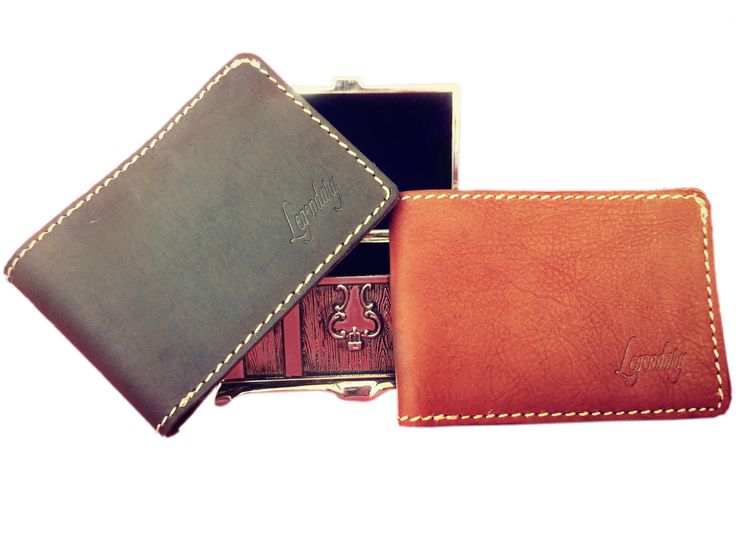 Small Bifold Tan Wallet By Legendary Leather **FREE EXPRESS DELIVERY** by…