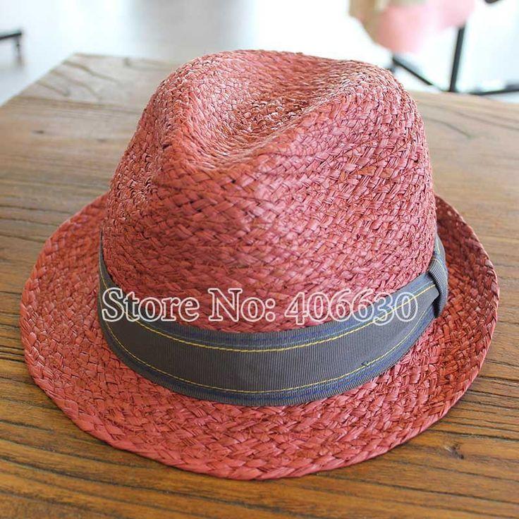 New Summer Raffia Straw Fedoras Hats For Men Chapeu Panama Jazz Trilby Caps Free Shipping PGFE-003