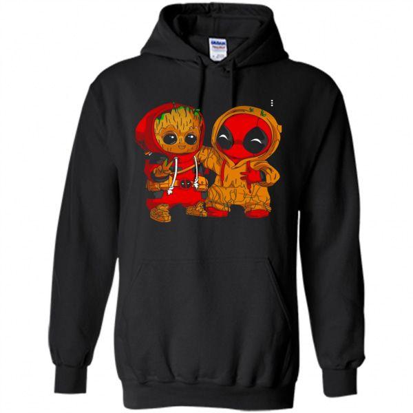 fd22292bdd Baby Groot And Baby Deadpool Hoodie