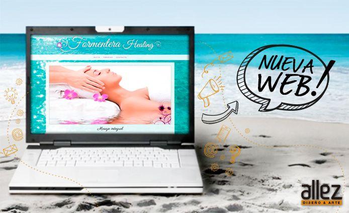 ¡#NuevaWeb! 👌👏Nuevo diseño #web desde el mar.  Ingresá a conocerla 😜 ... http://www.formenterahealing.com