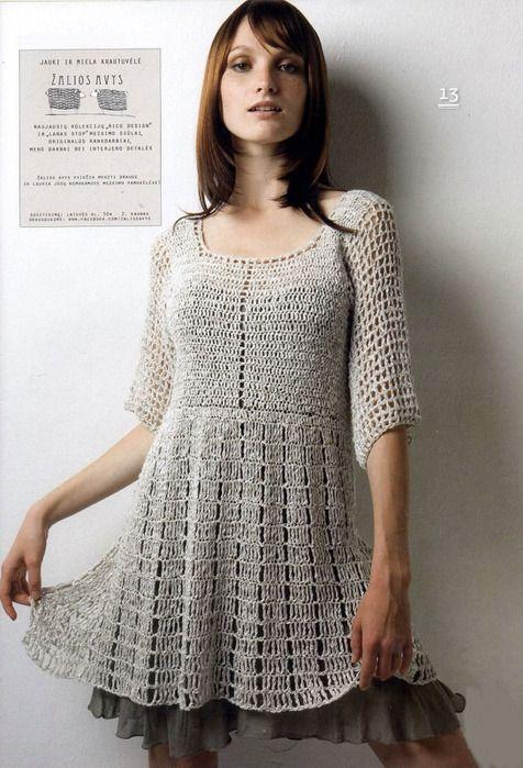 Beautiful tunic/dress: pattern - with diagrams
