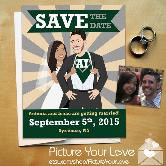 Superhero Wedding With Super Hero Save The Date Magnets! Custom Cartoon  Portraits At Picture Your