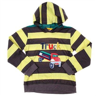 boys long sleeve stripe hood top Top-SN2-AJ63003-C-BroLemStr $15.00 on Ozsale.com.au