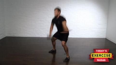 Squat Thrust with Single-Arm Dumbbell High Pull