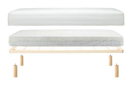脚付マットレス・ボンネルコイル・シングル(スチールメッシュ・洗えるカバー) 幅98×奥行198×高さ26cm | 無印良品ネットストア