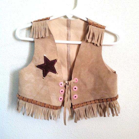 Cowgirl western vest up cycled children s by sugarlilyvintage 18