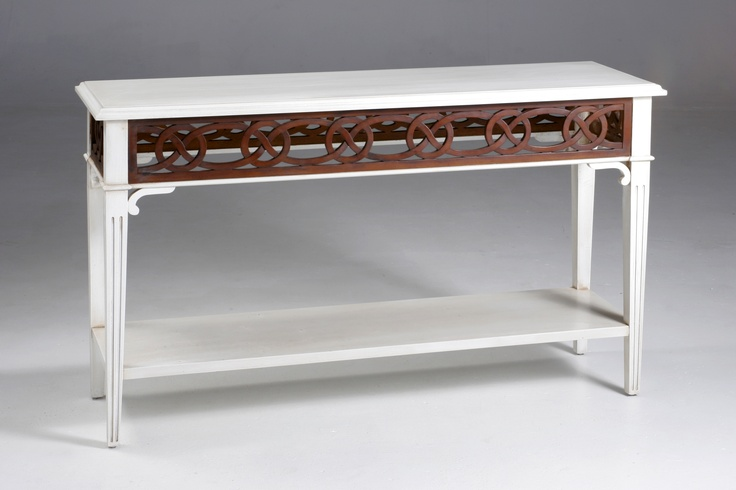 Chateau Hall Table - White and Walnut