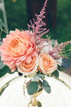 Blush and peach blooms: http://www.stylemepretty.com/destination-weddings/2015/08/19/travel-inspired-summer-wedding-at-chelsea-physic-garden/ | Photography: Pete Cranston - http://www.petecranston.com/