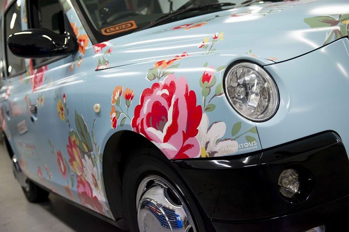 I could drive that........    Cath Kidston Taxis kentish rose blue 180 Piccadilly