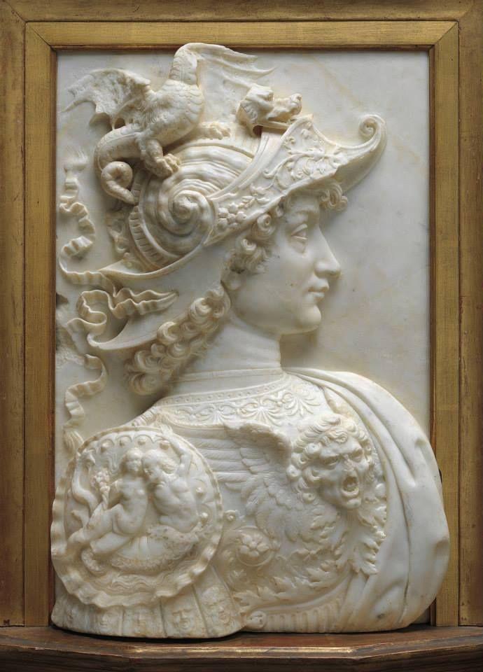 Bottega di Andrea del Verrocchio Rilievo raffigurante Alessandro il Grande 1483-1485 ca. Altorilievo in marmo Washington, National Gallery of Art