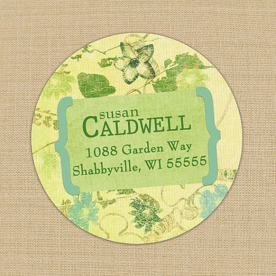Shabby and Faded Floral Custom Personalized Address Labels or Stickers by PoshGirlBoutique