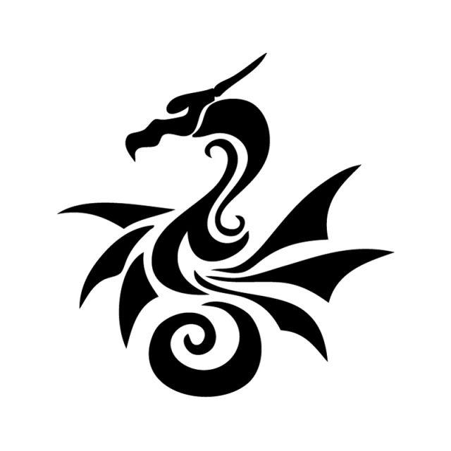 Simple Stencil Designs : Best images about dragon stencil designs on pinterest