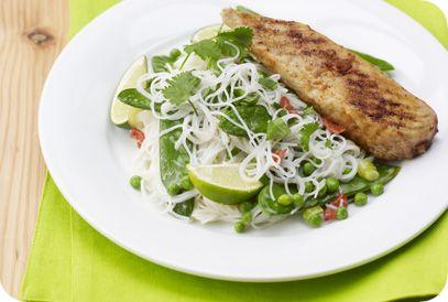 Flinndal | Gezond Gewicht | Lichte Currykip met noedels