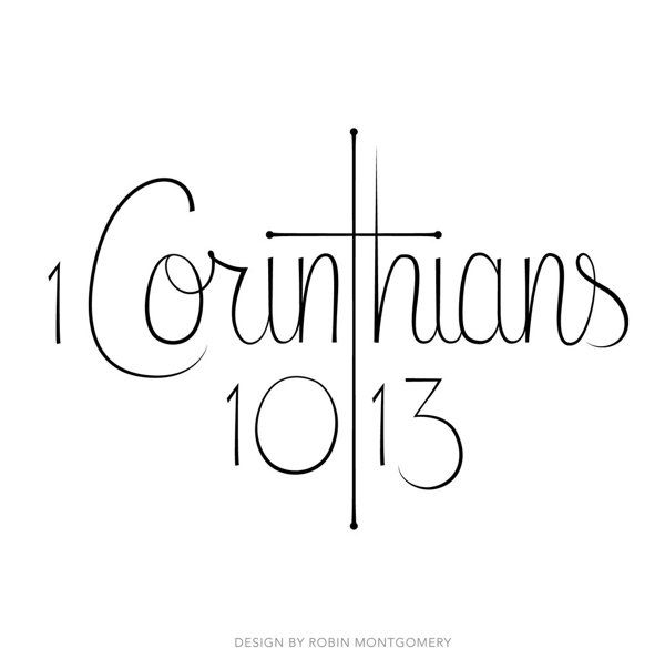 1 Corinthians 10:13 Tattoo by Robin Montgomery, via Behance