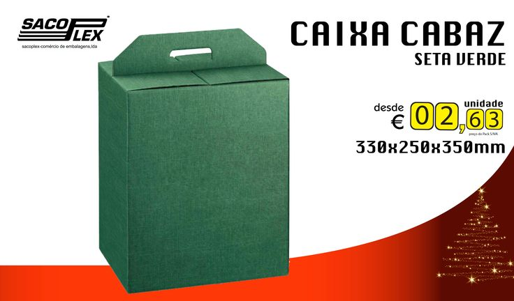 CAIXA CABAZ SETA VERDE