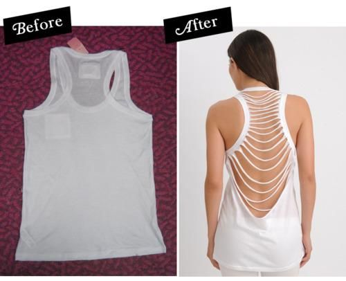 DIY Clothes DIY Refashion: DIY No-Sew Tank Top Refashion