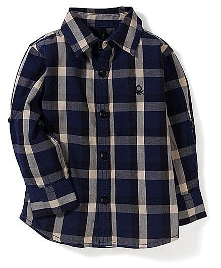 UCB Full Sleeves Checks Shirt - Navy Blue http://www.firstcry.com/ucb/ucb-full-sleeves-checks-shirt-navy-blue/684601/product-detail