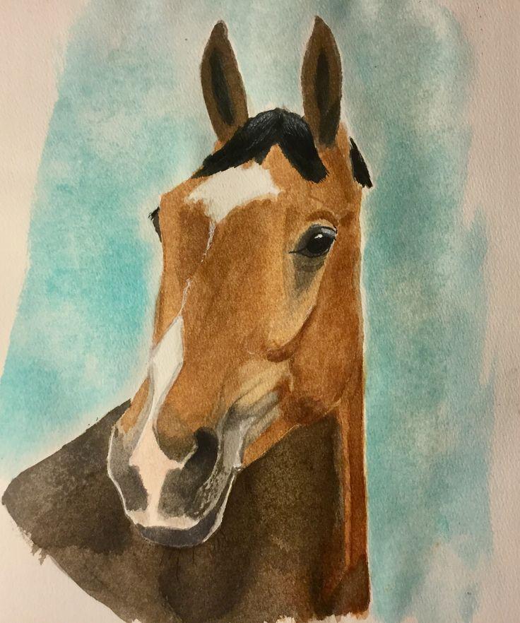 Dan #art #watercolour #horse
