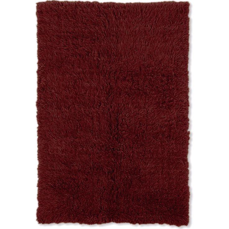 Linon Flokati Heavy Burgundy (Red) Rug (8' x 10') (Heavy Flokati Burgundy 8' X 10'), Size 8' x 10' (Wool, Solid)